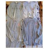 Lot of 4 Alabama Crimson Tide Blue Jean Shirts