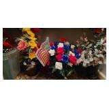 Estate lot of faux flowers