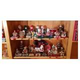 Christmas decor, stocking holders,