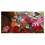 Christmas stockings, door hangers,