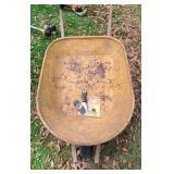 Metal wheel barrow