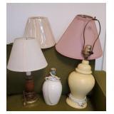 Estate Lot of 3 Decorative Lamps