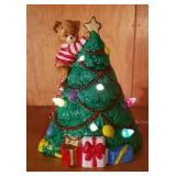 Ceramis lighted Christmas tree