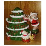 Ceramic Christmas tree tea pot