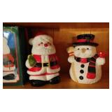 Lot of two festive cookie jars