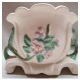 Vintage white Weller pottery vase