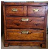 Vintage wood 3 drawer night stand