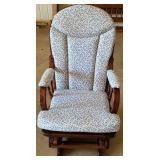 Mahogany cushioned gliding chair
