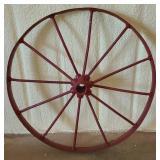 Vintage Red iron wagon wheel