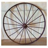 Vintage iron wagon wheel