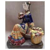 Gorgeous fragile porcelain lady figurine