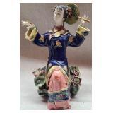 Gorgeous very fragile porcelain lady
