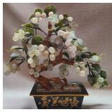 Stone base with glass grapes home decor