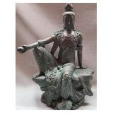 Bronze Kwan yen statue