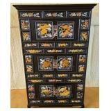 Asian bamboo mother of pearl spice cabinet #95