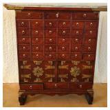 Vintage Mahogany 36 drawer medicine cabinet #120