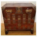 Vintage oak wood Asian style chest