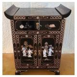 Asian bamboo mother of pearl cabinet #89