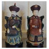 Pair of Asian Style King & Queen Figurines #96