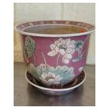 Oriental floral flower pot, #79