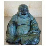 Small Metal Teal Colored Buddha Figurine