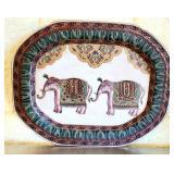 Asian Style Decorative Elephant Plate #98