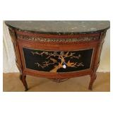 Antique Marble Top & Brass Bombay Style Chest