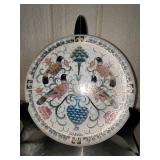 Asian Style decorative plate,  stand not included