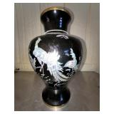 Mother of pearl brass Asian Style vase, #7