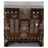 Awesome Asian Handled Chest Brass Accents