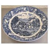 Vintage sanyei blue and large bowl