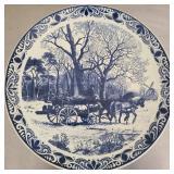 Vintage Derfts Blauw platter