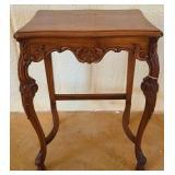 Vintage oak wood small table