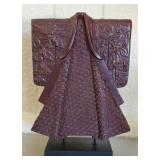 Heavy Solid Wood Carved Asian Style Kimono Decor