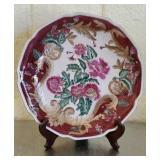 Beautiful Hand painted Decorative Maroon Plate 55