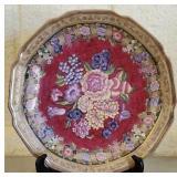 Beautiful Handpainted Decorative Floral Plate 55