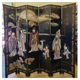 Large Vintage hand carved VERY heavy screen