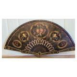 Beautiful Large wood fan shaped home decor #134