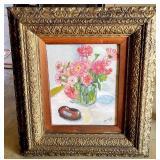 Vintage Framed Berridge Floral Painting on Board