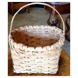Small Vintage Hand made Split White Oak Basket