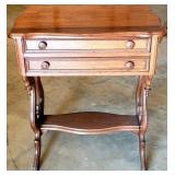 Beautiful Wooden Side Table with 2 Drawers