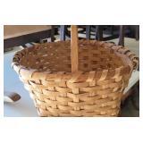 Vintage Whit Split Oak Basket Medium