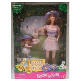Collectible Easter bunny fun barbie and Kelly doll