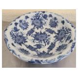 Gorgeous blue and white large bowl