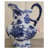 Beautiful blue and white porcelain pitcher