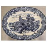 Gorgeous blue and white platter