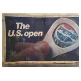 Vintage metal Pepsi advertising sign