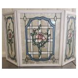 Stained glass triple pane screen