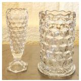 Lot of 2 American Fostoria Glass Vases
