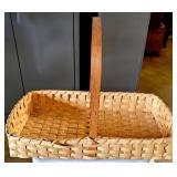 Vintage Handmade Split White Oak Woven Basket